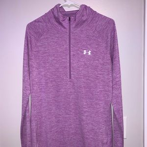 Purple Long Sleeve Athletic Top